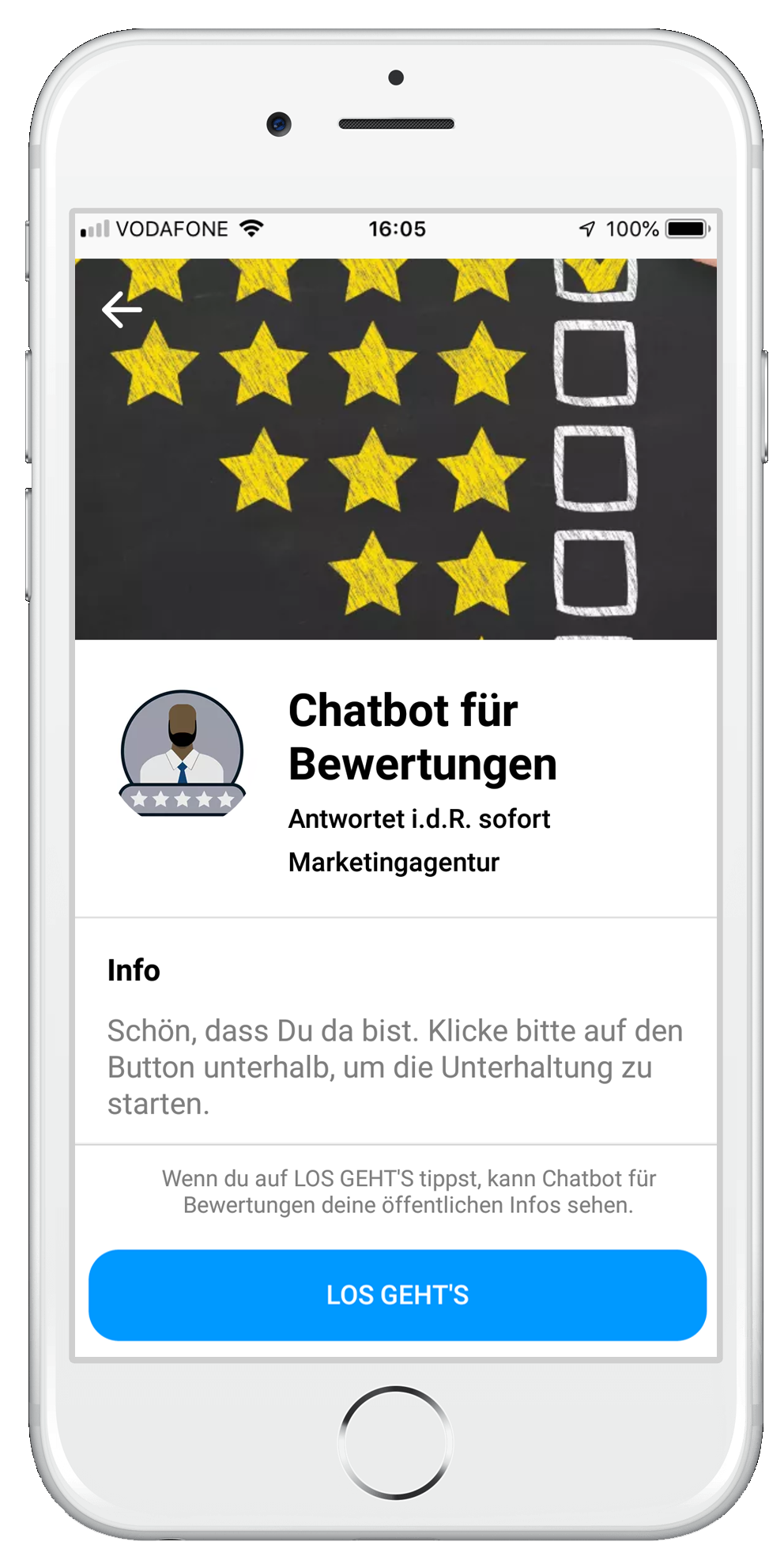 Chatbot für Bewertungen